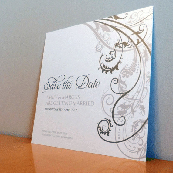 Save the Date Card - Baroque Wedding Range - Wedding Invitation