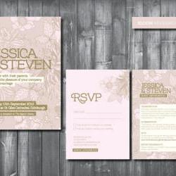 Wedding Invitation Suite - Digital Printable File - Bloom Wedding Range