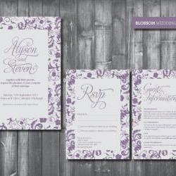Wedding Invitation Suite - Digital Printable File - Blossom Wedding Range