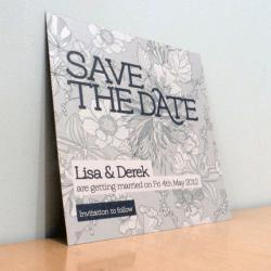 Save the Date Card - Bloom Wedding Range - Wedding Invitation