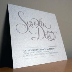 Save the Date Card - Bliss Wedding Range - Wedding Invitation