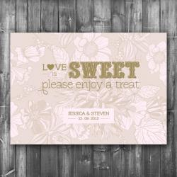 Wedding Candy Bar Sign - Digital Printable File - Candy Buffet Reception Sign