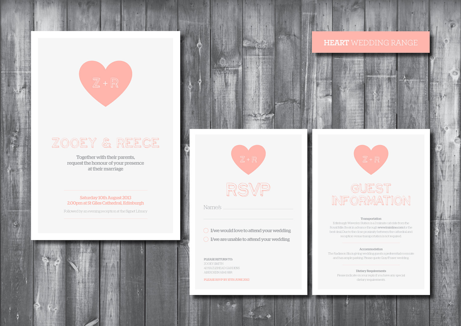 Wedding Invitation Suite - Digital Printable File - Heart Wedding ...